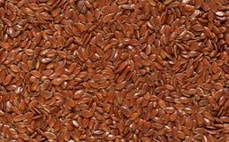 Flaxseed beautifully shines. Royalty Free Stock Photos
