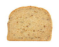 Flaxseed Bread Slice Overhead View Stock Image