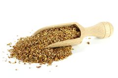 Flaxseed grist Stock Photo