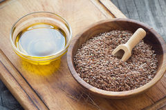 Flaxseed oil Royalty Free Stock Images