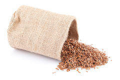 Flaxseed Sack Royalty Free Stock Photography