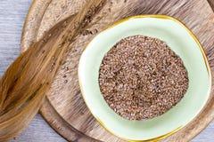 Flaxseeds με την ξανθή τρίχα Στοκ εικόνες με δικαίωμα ελεύθερης χρήσης