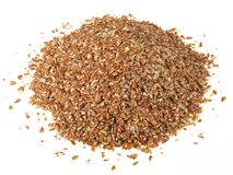 Milled Flaxseeds - Healthy Nutrition royalty free stock photos