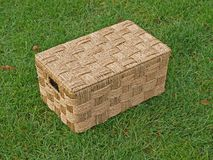 Flaxy wickerwork box Royalty Free Stock Photo