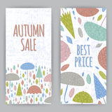 Flayer Autumn Royalty Free Stock Photography