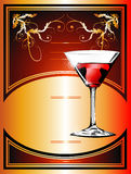 Flayer background. Wine or cocktail Flayer background royalty free illustration