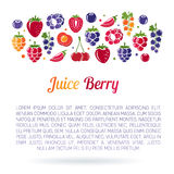 Flayer de Juice Berry Foto de archivo