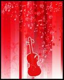 Flayer de violon et d'étoiles Photos libres de droits