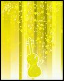 Flayer de violon et d'étoiles Photographie stock libre de droits