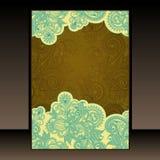 Flayer design. Flayer ornate floral hand draw design vector illustration