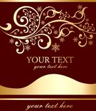 Flayer with an inscription and a pattern. Flayer with an inscription and a gold pattern vector illustration