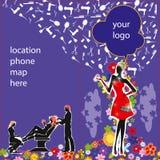 Flayer lub broszury piękna okładkowy bar Obrazy Stock