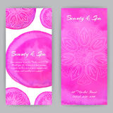 Flayer met Roze Lotuses Royalty-vrije Stock Foto