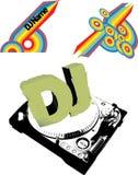 Flayer o Cd del DJ Fotografie Stock Libere da Diritti