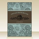 Flayer ornate vintage background Royalty Free Stock Photos