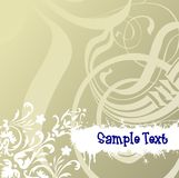 Flayer Scroll and Text. Vector Illustration. No Meshes royalty free illustration