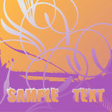 Flayer Scroll and Text. Vector Illustrtation. No Meshes Royalty Free Stock Image