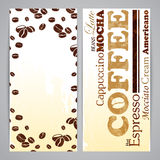 Flayer templates for coffee menu Stock Photography