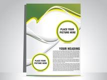 Flayer verde astratto Fotografia Stock Libera da Diritti