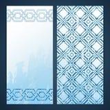 Flayers with arabesque decor Stock Photo