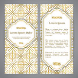 Flayers with arabesque decor Royalty Free Stock Photography