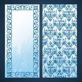 Flayers with arabesque decor Royalty Free Stock Images