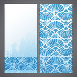 Flayers with arabesque decor Royalty Free Stock Image