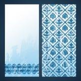Flayers with arabesque decor Royalty Free Stock Photo