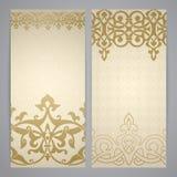 Flayers with arabesque decor Royalty Free Stock Photos