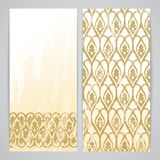 Flayers with arabesque decor Stock Photography