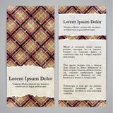 Flayers com testes padrões retros - guingão com papel rasgado Fotos de Stock Royalty Free