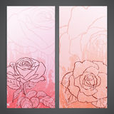 Flayers with flowers - roses Stock Image