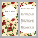 Flayers with retro patterns - roses Stock Images