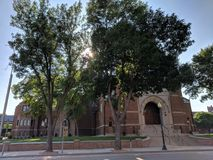 First Lutheran Church in Sioux Falls, South Dakota. FLC offers a variety of services, including a televised media outreach every Sunday Stock Photo