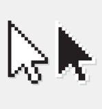Flèche d'ordinateur de vecteur Images libres de droits