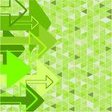 Flèche verte Photographie stock libre de droits