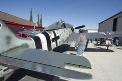 Flächen des Ruhmes Focke-Wulf FW 190 auf Bildschirmanzeige Stockfotografie