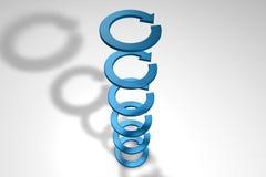 flèches 3d Photographie stock libre de droits