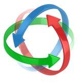 flèches 3d symbolisant la protection Photos libres de droits
