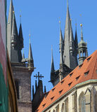 Flèches d'église en Europe Image stock
