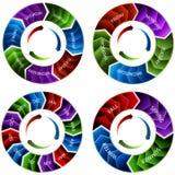 Flèches de roue de temps Photos libres de droits
