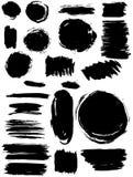 Fläckar plaskar baneruppsättningen Grunge textur Arkivfoto