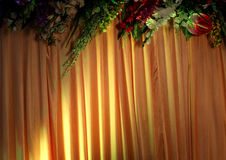 Fläckljus på en gardin Arkivfoton