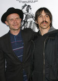 Flea and Anthony Kiedis stock images