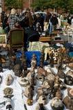Flea market. In Brussels. October 5 2009. Brussels, Belgium stock photography