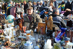 Flea market. Every saturday there is flea market  on the Naschmarkt in Vienna. There are always a lot of people because you can buy all you need and for special Royalty Free Stock Images