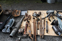 Flea market. In Lough Rynn, Ireland royalty free stock photos