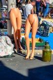 Flea market in Alfama, Lisbon Stock Images