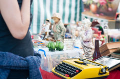 At the flea market Royalty Free Stock Photos