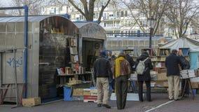 Flea market on Amsterdam,  Netherlands royalty free stock photos